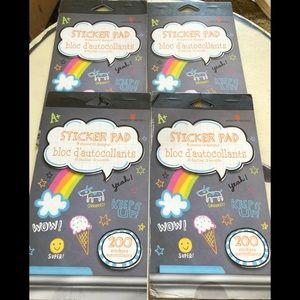 Lot of 4 packs of school stickers 800 stickers